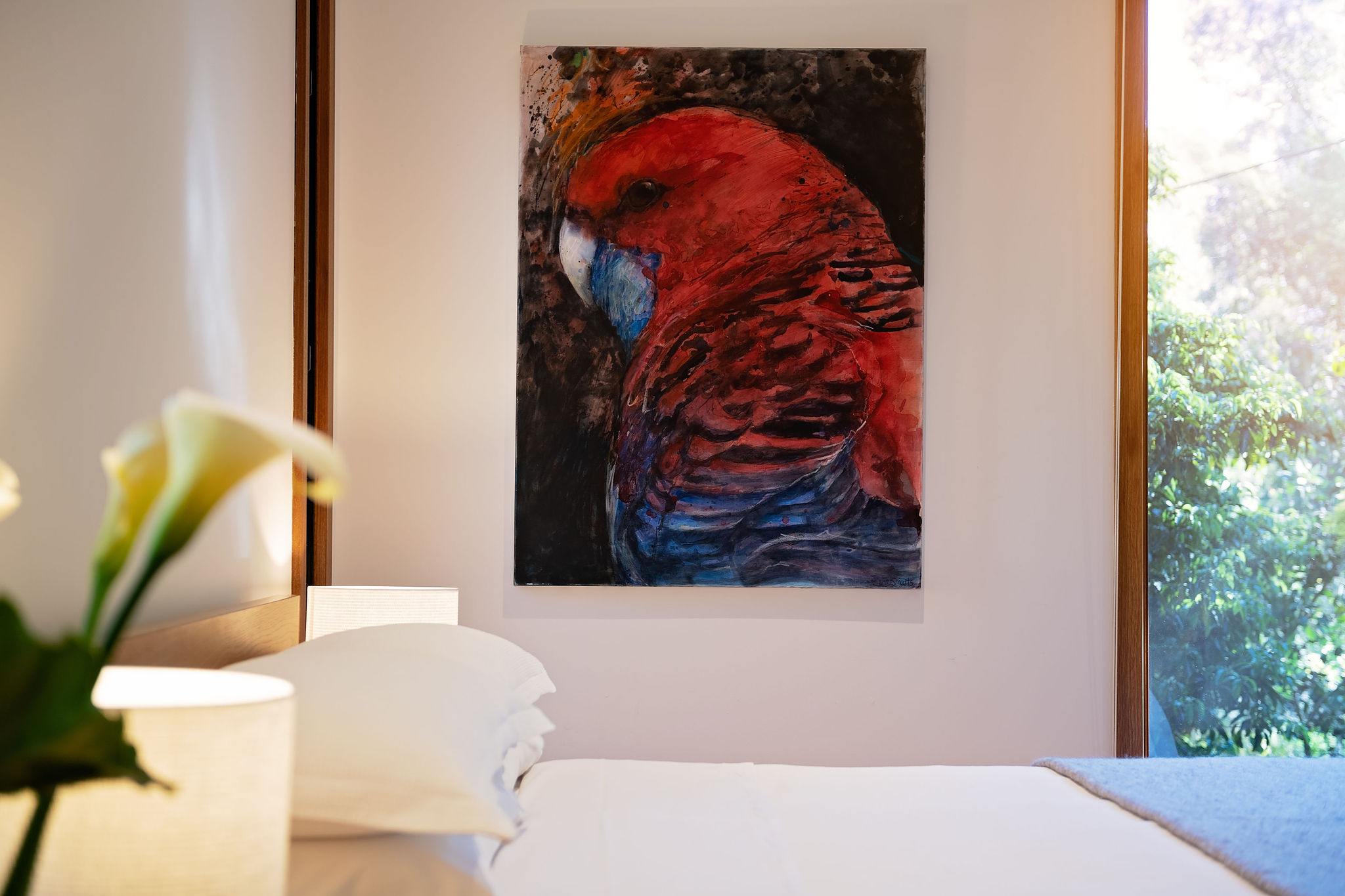 dunes parrot painting