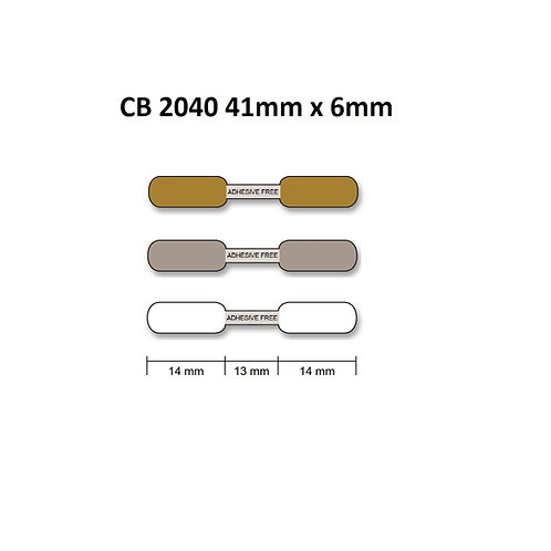 CB2040 - Polyester thermal transfer jewelry labels (6mm x 41mm) roll of 2,000