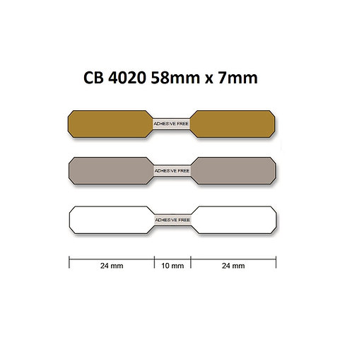 CB4020 - Polyester thermal transfer jewelry labels (7mm x 58mm) roll of 2,000