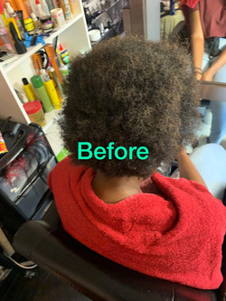 Afro barbering service