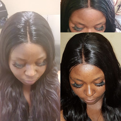 Weave with lace closure
