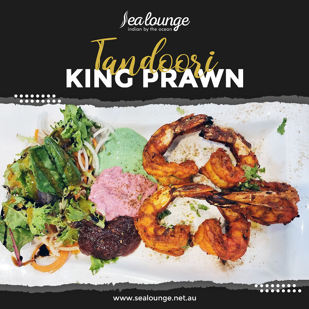 For all prawns (and seafood, really) lovers in Glenelg, come closer and enjoy our Tandoori King Prawn! Book your table now or contact Sea Lounge for more information!