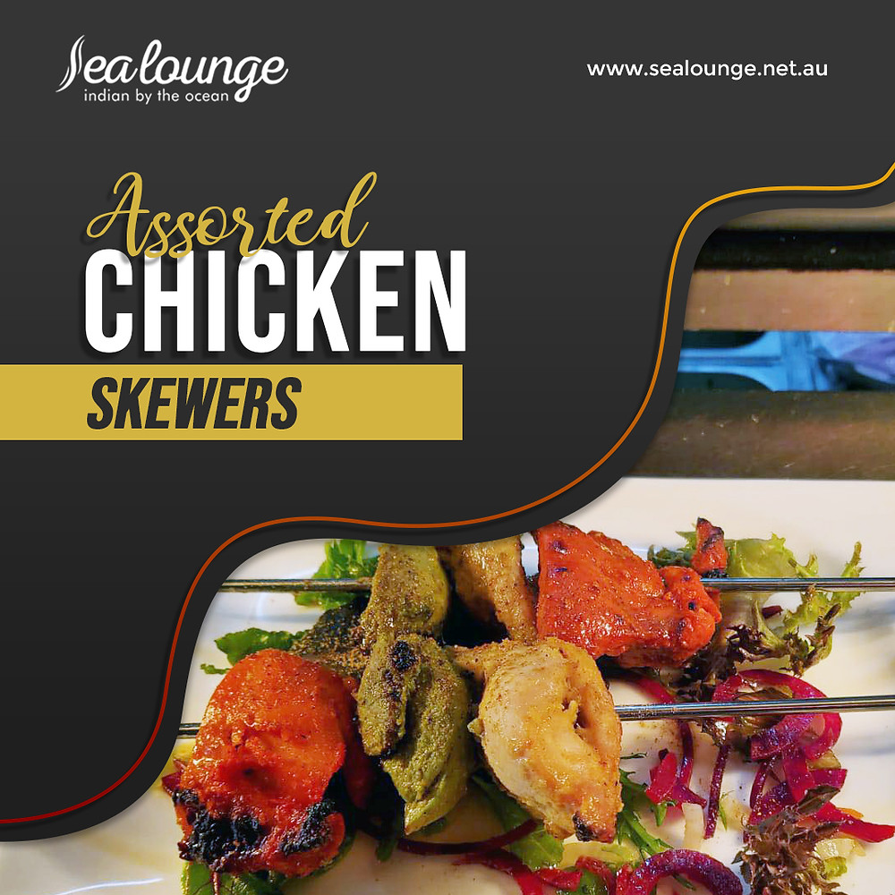 Try our delicious Assorted Chicken Skewers that your whole family will love!  Book your table now or contact Sea Lounge for more information!
