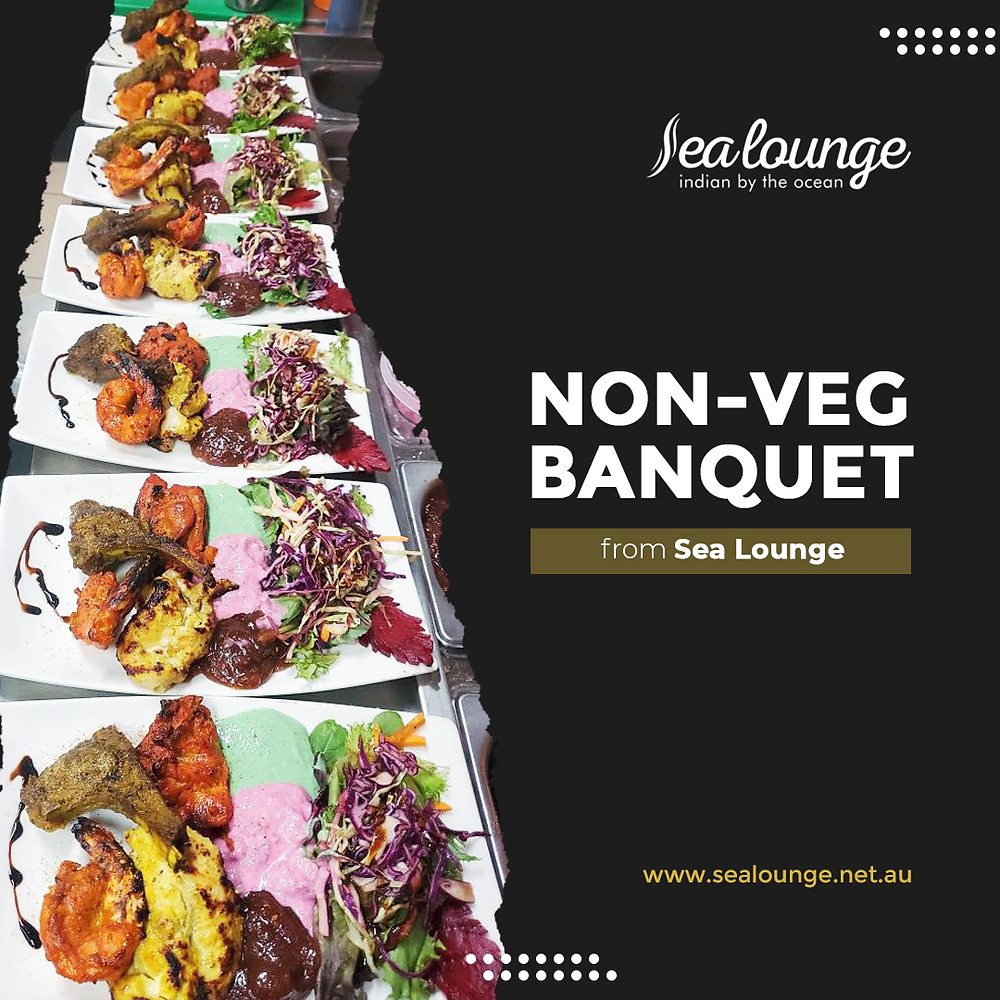 Come and visit Sea Lounge in Glenelg. We serve the best non-veg banquet in Marina Pier. Book your table now or contact Sea Lounge for more information!