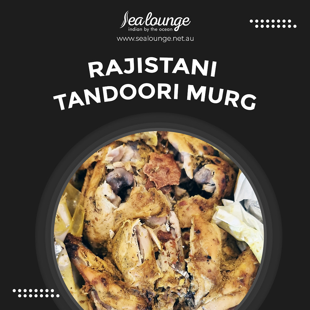 Straight from the tandoor on to your plate, 𝐑𝐚𝐣𝐢𝐬𝐭𝐚𝐧𝐢 𝐓𝐚𝐧𝐝𝐨𝐨𝐫𝐢 𝐌𝐮𝐫𝐠 is a must-try for all meat lovers!  Book your table now or contact Sea Lounge for more information!