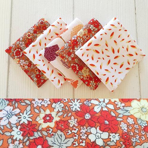 Mouchoirs - Collection Flower power - Lot de 5 mouchoirs