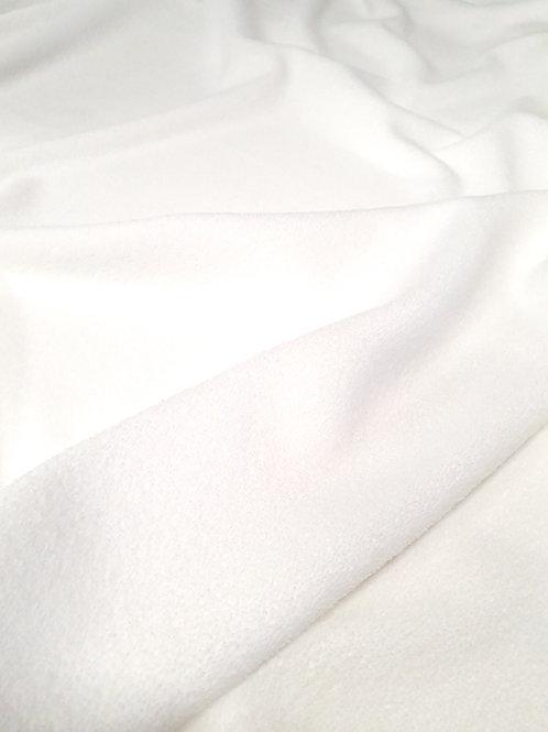 Tissus Microfibre Eponge Oekotex Blanche au mètre