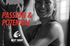 Brand identity design poster for Next Wave Academy