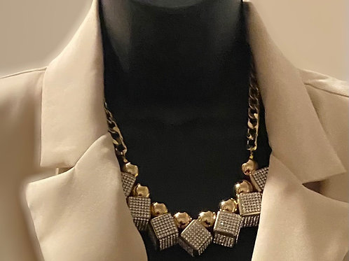 T Top Bling Box Necklace Set