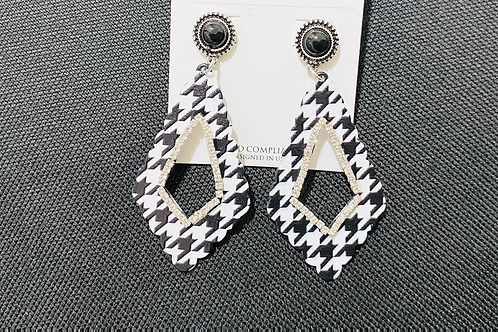 Black/White Bling Earrings