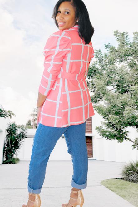 Peach Twist Blazer