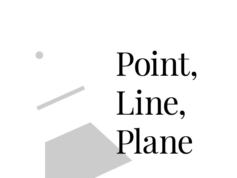 The best graphic designers utilize point line and plane creatively