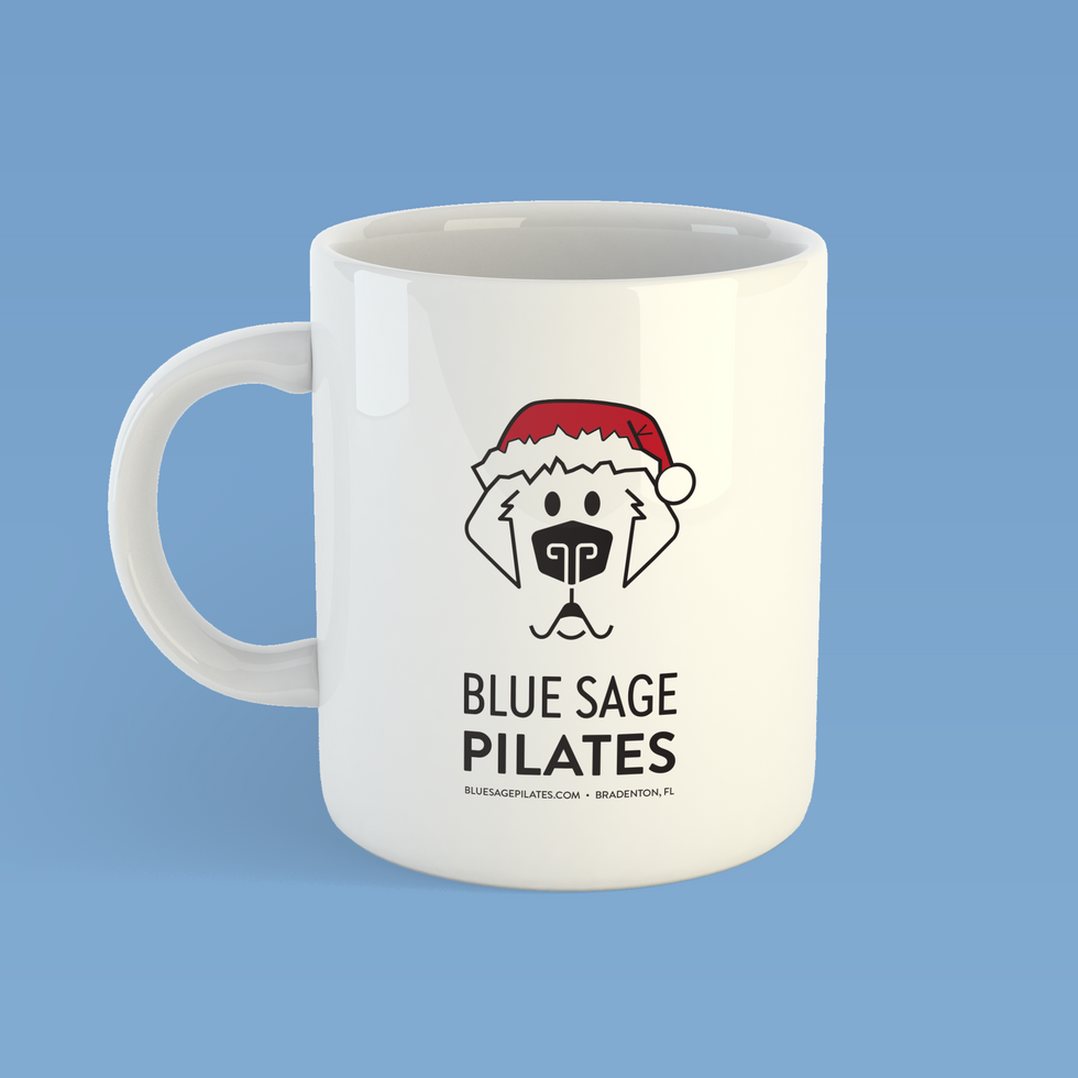 Special edition blue sage Christmas mugs