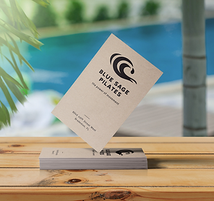 cool water logo typography business card design