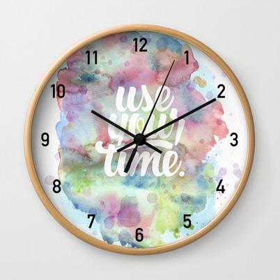 Graphic design for clock from Clay Schmidt Creative illustrative logo design