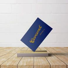 Business card custom hand lettering design