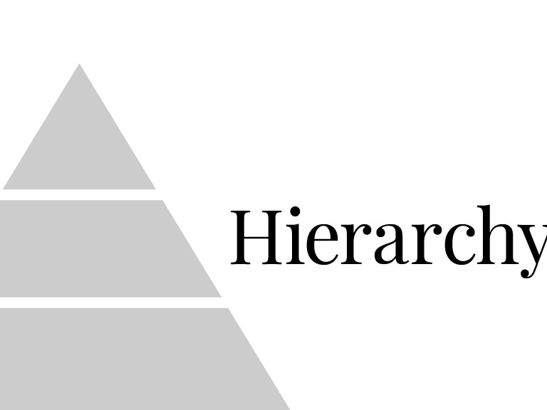 stick to 3 levels of hierarchy: Most important, least important, and everything else