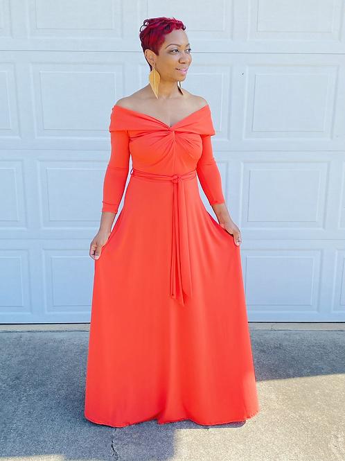 Orange Kiss Maxi Dress