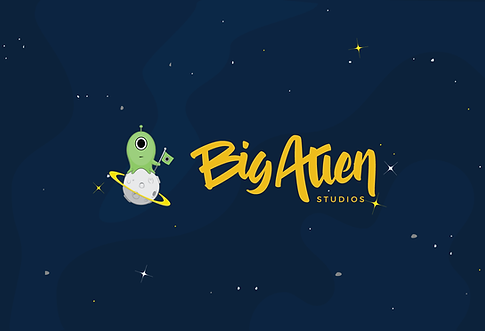 Big Alien Studios logo design, web design, and brand identity design from clay schmidt creative
