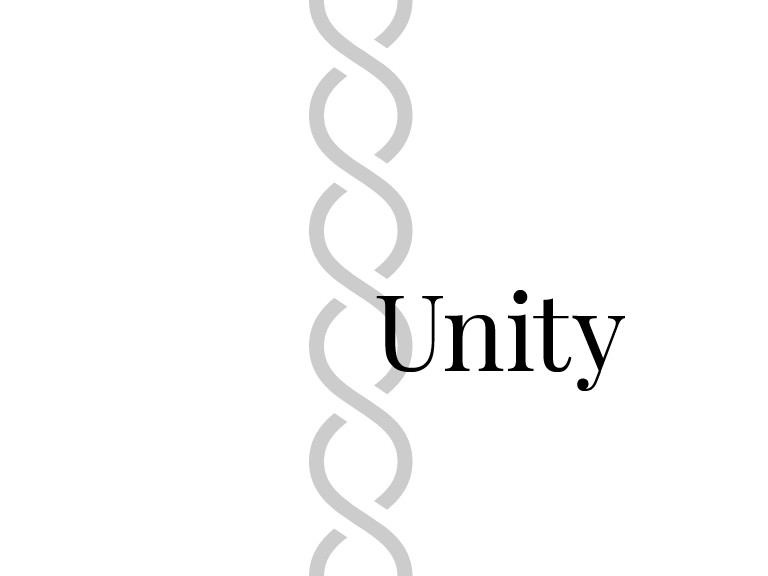Unity happens when all design elements work together toward a common message
