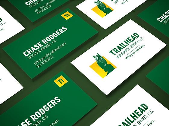 Business card branding design