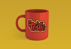 Coffee mug lettering design
