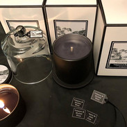 Burning a #tobacco&mulledwine travel tin while packing the deluxe glass with cloche.jpg