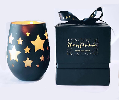 Christmas Stars Boxed Candle