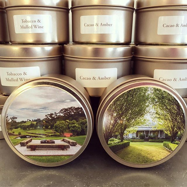CUSTOM CANDLES • These gorgeous copper 8 oz (25+ hrs burn time) are for my neighbours at beautiful _jerrymara_estate Check out their stunnin