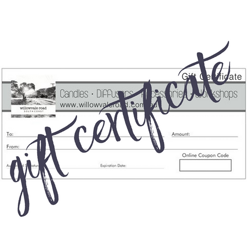 Online Store Gift Certificates