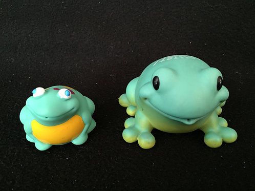 Squirt Bath toy set frogs