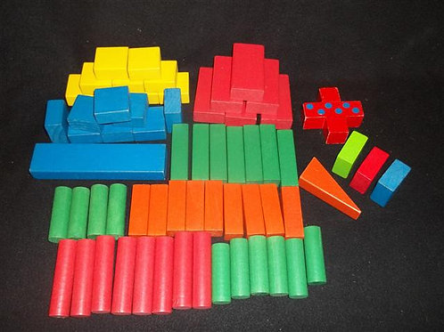 Colored Wooden Block Set Lot #2