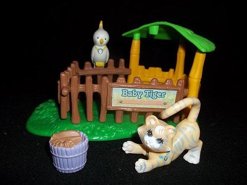 Zoo Nursery Baby Tiger Cockatoo Play set  1993