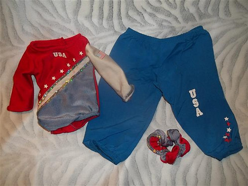 American girl gymnastics outfit