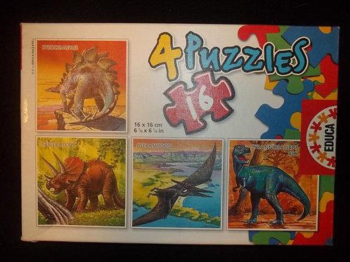 Educa 4 Puzzles in 1 - Four 16 piece puzzles