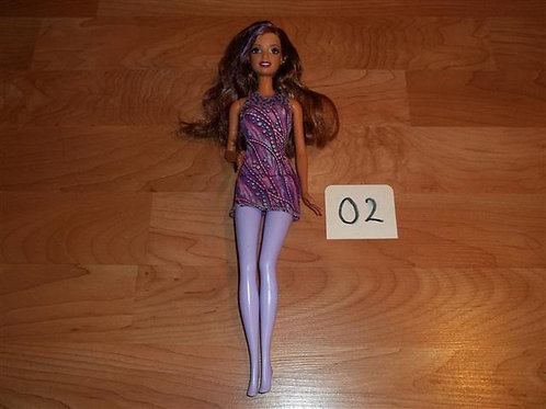 "(02) Barbie Mattel ""1999""with purple highlights"