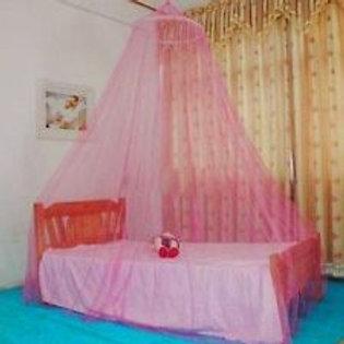Pink Hoop Bed Canopy Mosquito Net