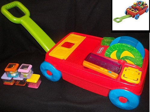2 in 1 peek a block activity wagon