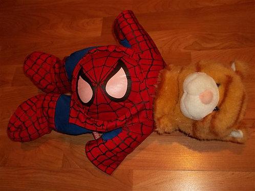 "Build a bear 17"" Tabby Cat with Spider Man"