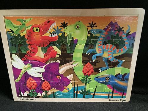 Melissa & Doug Prehistoric Sunset Dinosaur Puzzle