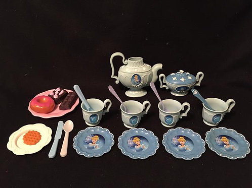 Cinderella Tea Set with sweets -  23 total pieces