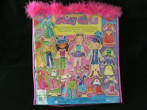 Daisy Girls Wooden Magnetic Dress-Up Dolls & Case