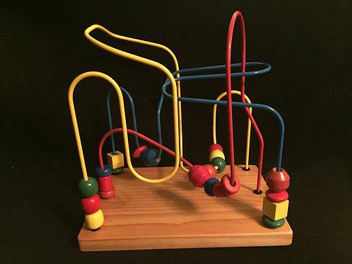 Wooden Bead Maze Roller coaster