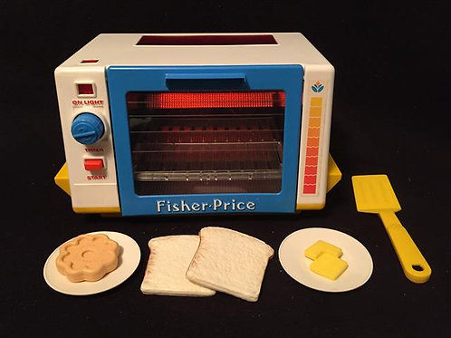Fisher Price Golden Glow Toaster Oven 1987