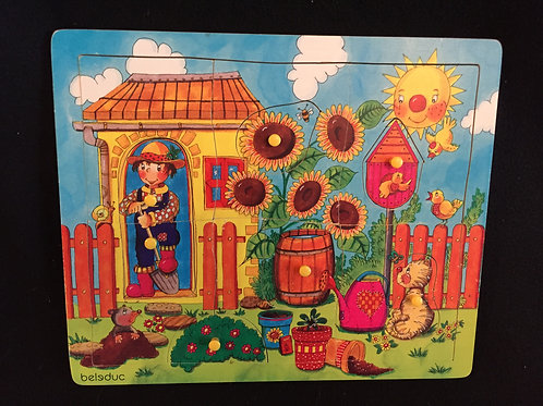 Beleduc Discovery Garden Knob Puzzle