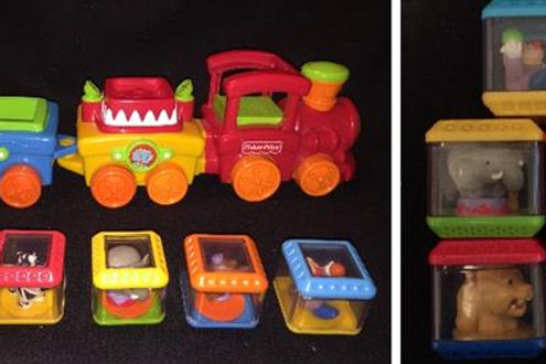 Fisher-Price Peek-a-Blocks Press & Go Train