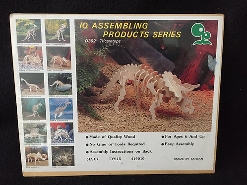 Dino Wooden 3D Puzzles Triceratops *NEW