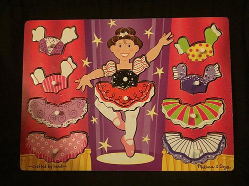 Ballerina Dress Up Mix'n Match Peg Puzzle