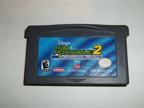 Kim Possible 2 Drakken's Demise GAME BOY/NINTENDO