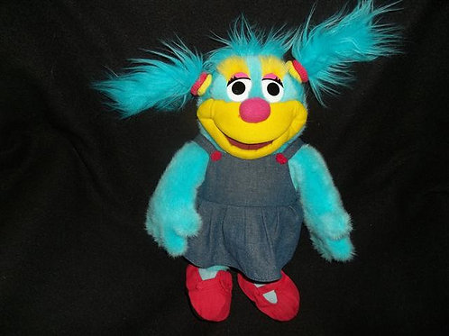 """Annie"" Furry Blue Monster Muppet 14"""